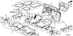 Honda 83604-T2A-A01ZA Floor Mat
