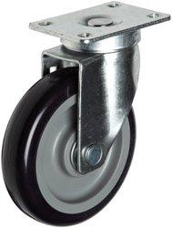 "RWM Casters Pneumatic Swivel Plate Caster - 300 lbs Capacity - 8"" Diameter"