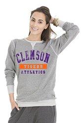 NCAA Clemson Tigers Colby Tri-Blend Crew Neck Sweatshirt, X-Large, Tri-Grey