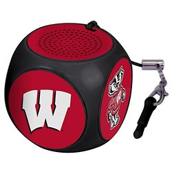 NCAA Wisconsin Badgers MX-100 Cubio Mini Bluetooth Speaker, Black, One Size
