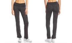 Vogo Women's Boot Cut Performance Pants - Black/White Dot - Size: M
