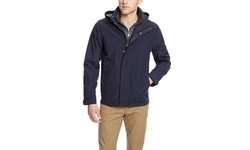 Weatherproof Men's Hooded Anorak with Bib - Baltic - Size: Large