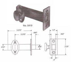 Baldwin 0419055 Lifetime Polished Nickel Mortise Bolt Security Bolt