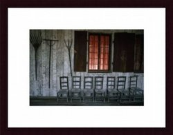 Printfinders Porch Of Bolduc House Museum by Randy Olson Wood Framed Art Print