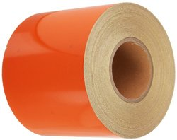 "Mutual 17794 Super Engineering Grade Reflective Barrel Adhesive Tape, 50 yds Length x 6"" Width, Orange"