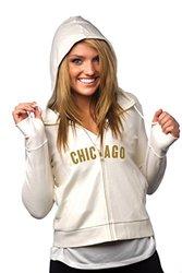 "Women's NFL Chicago Bears ""Play-Action"" Full-Zip Hoody - Cream - Small"