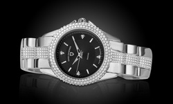 Swiss Diamonds Women's Genuine Diamond Watch - White/Black