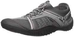 JSport by Jambu Women's Compass Flat Shoes - Grey/Purple - Size: 6.5