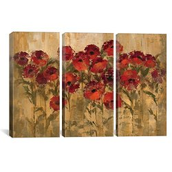 iCanvasART WAC1248-3PC3-60x40 Sunshine Florals Canvas Print by Silvia Vassileva, 60 by 40-Inch, 0.75-Inch Deep