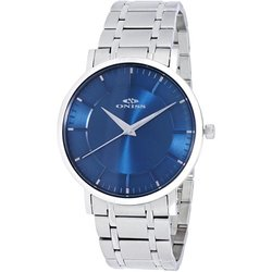 Oniss Men's 42mm Slim Swiss Quartz Analog Watch - Blue/Silver (ON5212-MBU)