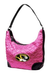 Little Earth Women's NCAA Missouri Quilted Hobo Bag - Pink
