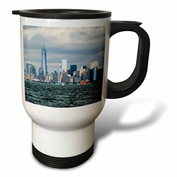 3dRose NYC and Freedom Tower, Travel Mug, 14oz, Stainless Steel
