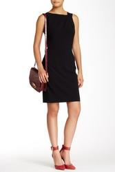 Tahari ASL Women's Asymmetrical Neck Sheath Dress - Black - Size: 14