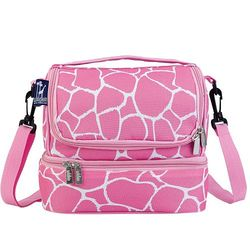 Wildkin Unisex Giraffe Double Decker Lunch Bag - Pink