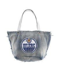 NHL Edmonton Oilers Vintage Tote in Cotton - Blue