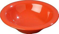24 Pack Carlisle Durus Rimmed Melamine Bowl - 13 Oz. - Sunset Orange