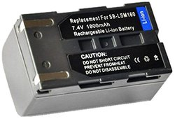 Amsahr Digital Replacement Camcorder Battery for Samsung SB-LSM160 - Gray