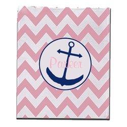 "30""x40"" Kids Parker Personalized Anchor Chevron Fleece Blanket - Bubblegum"