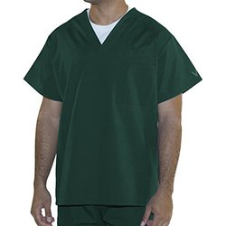 myGuardian with Vestex Protection 403_HG_M Unisex 1 Pocket Scrub Top, Medium, Hunter Green