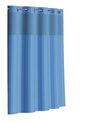 Hookless RBH35MY044 Victorian Stripe Shower Curtain - Crystal Blue
