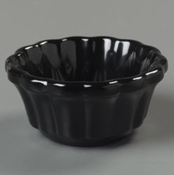 2.4 oz. Melamine Scalloped Ramekin in Black (Case of 48