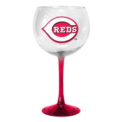MLB Cincinnati Reds Hand-Crafted Balloon Wine Glass, 20-ounce