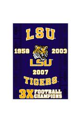 LSU Tigers Commemorative Throw by Northwest Lsu Team