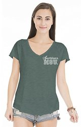 NCAA Michigan State Spartans Women's V  V-Neck Tee - Green - Size: Small