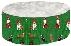 Pampered Pets Holiday Print Cat Bed - Multi - Size: Small
