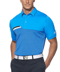 Callaway Men's Course on Course Micro-Striped Polo - Blue Aster - Size: L