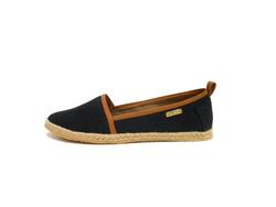 Flats by Kaanas Women's Mancora - Black Saddle - Size: 6
