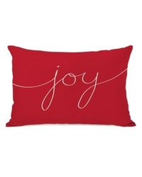 One Bella Casa Holiday Joy Mix and Match Polyester Throw Pillow; Red