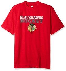 NHL Men's Short Sleeve 'Chicago Blackhawks' Screen Print T-Shirt - Red/3X