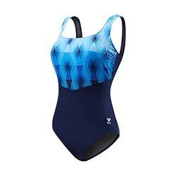 TYR Stirling Aqua Controlfit Swimsuit - Women's 22_Navy/Blue