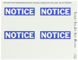 Brady 12912, Sign & Label Blanks (Pack of 5 pcs)