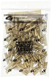 Gold Tip 110-Grain Laser II and III Brass Arrow Inserts - 100 Count