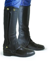 Ovation Women's Precision Fit Half Chaps Black C15H18 US