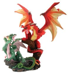 """Fighting Dragons Collectible Statue Figurine Height 10"""""""