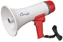 Champion Sports 6-10 Watt Megaphone - 600 Yard Range