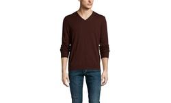 Cullen Merino V-Neck Sweater - Cedar - Small