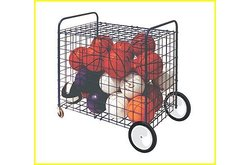 "Champion Sports Lockable Ball Storage Locker With Terrain Wheels, Large (36 x 24 x 36""), Blue"