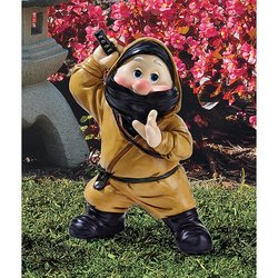 Design Toscano Far East Ninja Gnome Statue