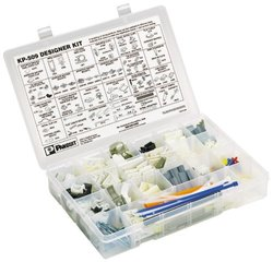 Panduit KP-509 Cable Tie Kit, Plastic Box, Cable Ties, Mounts, Wiring Accessories