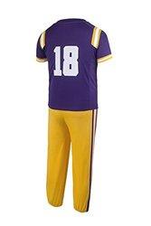 NCAA Lsu Tigers Boys Toddler/Junior Football Uniform Pajamas , Size 7T, Purple/Gold