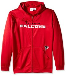NFL Atlanta Falcons Men's Full Zip Poly HD Sweatshirt, 2X/Tall, Red