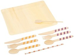 Perfect Stix Game Day 24ct-Clemson Tailgate Party Pack Kit, Cutlery Set with Clemson Team Colors (Pack of 96)