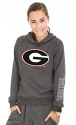 NCAA Georgia Bulldogs Buttersoft Tri-Blend Hoodie, X-Large, Tri-Onyx