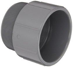 "Spears 836-C Adapter, Schedule 80 1/2"" Socket x NPT Male CPVC Pipe Fitting"