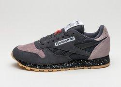 Reebok Classic Men's Leather Sneakers - Coal/Mindset/Black - Size: 10