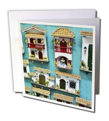 """3dRose 6""""x6"""" Typical hand crafts from Cartagena Greeting Cards - Set of 6"""